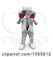 Clipart 3d White Person Looking Through Binoculars - Royalty Free CGI Illustration by 3poD #COLLC1065612-0033