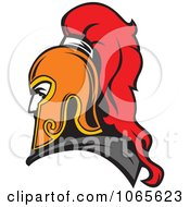 Clipart Roman Soldier And Helmet 3 Royalty Free Vector Illustration