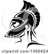 Clipart Roman Soldier And Helmet 6 Royalty Free Vector Illustration