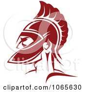 Clipart Roman Soldier And Helmet 4 Royalty Free Vector Illustration