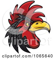 Clipart Tough Rooster 2 Royalty Free Vector Illustration by Vector Tradition SM
