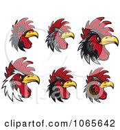 Clipart Tough Roosters 1 Royalty Free Vector Illustration
