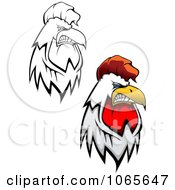 Clipart Tough Roosters 2 Royalty Free Vector Illustration