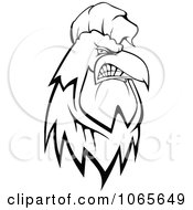 Clipart Outlined Tough Rooster Royalty Free Vector Illustration