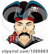 Clipart Pirate Face 1 Royalty Free Vector Illustration