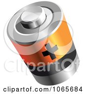 Clipart 3d Battery With A Plus Royalty Free Vector Illustration