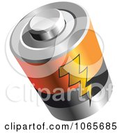 Clipart 3d Battery With A Bolt Royalty Free Vector Illustration