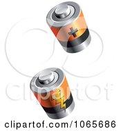Clipart 3d Batteries Royalty Free Vector Illustration