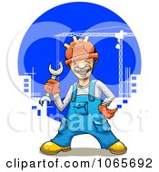 Clipart Construction Worker Royalty Free Vector Illustration by Vector Tradition SM