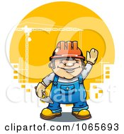 Clipart Mason Construction Worker Royalty Free Vector Illustration by Vector Tradition SM