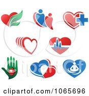 Clipart Health And Wellness Logos Royalty Free Vector Illustration