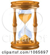 Clipart 3d Sandglass Royalty Free Vector Illustration