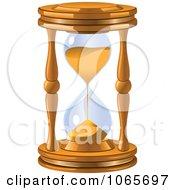 Clipart 3d Sandglass Royalty Free Vector Illustration