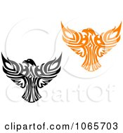 Clipart Eagles Collage 2 Royalty Free Vector Illustration
