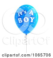 Clipart Blue 3d Its A Boy Balloon 1 Royalty Free CGI Illustration