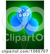 Clipart 3d Its A Boy Balloons 2 Royalty Free CGI Illustration
