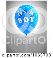 Clipart Blue 3d Its A Boy Balloon 2 Royalty Free CGI Illustration