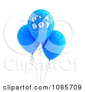 Clipart 3d Its A Boy Balloons 1 Royalty Free CGI Illustration