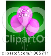 Clipart 3d Its A Girl Balloons 2 Royalty Free CGI Illustration