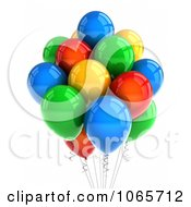 Clipart 3d Party Balloons Royalty Free CGI Illustration by stockillustrations