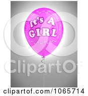 Clipart A Pink 3d Its A Girl Balloon 2 Royalty Free CGI Illustration
