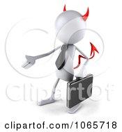 Clipart 3d White Bob Devil Businessman 1 Royalty Free CGI Illustration by Julos