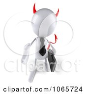 Clipart 3d White Bob Devil Businessman 2 Royalty Free CGI Illustration by Julos
