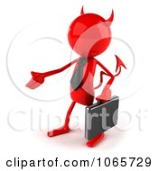 Poster, Art Print Of 3d Red Bob Devil Businessman 2