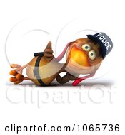Clipart 3d Thumbs Up Police Chicken Relaxing Royalty Free CGI Illustration