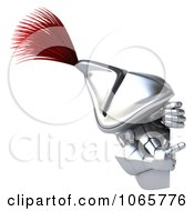 Clipart 3d Knight With A Sign 4 Royalty Free CGI Illustration