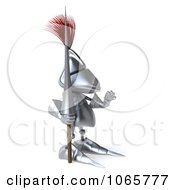 Clipart 3d Knight Facing Right And Holding A Hand Up Royalty Free CGI Illustration