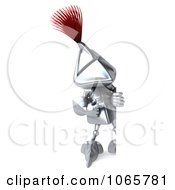 Clipart 3d Knight With A Sign 5 Royalty Free CGI Illustration