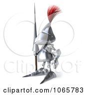 Clipart 3d Knight Facing Left Royalty Free CGI Illustration