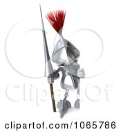 Clipart 3d Knight With A Sign 3 Royalty Free CGI Illustration