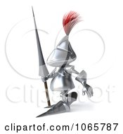 Clipart 3d Knight Pacing Left Royalty Free CGI Illustration