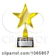 Clipart 3d Golden Star Trophy Award Royalty Free Vector Illustration