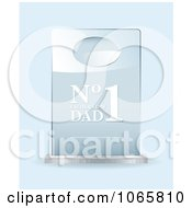 Clipart 3d Number One Dad Award Royalty Free Vector Illustration