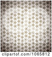 Clipart Brown Star Pattern Background Royalty Free Vector Illustration