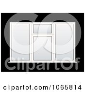 Clipart Plastic White Window Designs Royalty Free Vector Illustration