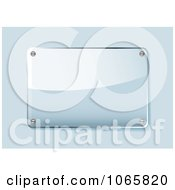 Clipart 3d Shiny Glass Plaque Royalty Free Vector Illustration by michaeltravers