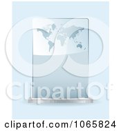Clipart 3d Atlas Glass Award Royalty Free Vector Illustration by michaeltravers