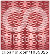 Clipart Seamless Red Hexagon Background Pattern Royalty Free Vector Illustration by michaeltravers