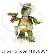 Clipart 3d Cowboy Tortoise Sheriff Royalty Free CGI Illustration