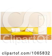 Clipart 3d Yellow Sofa With White Pillows Royalty Free CGI Illustration by KJ Pargeter