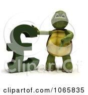 Clipart 3d Tortoise With A Lira Symbol Royalty Free CGI Illustration
