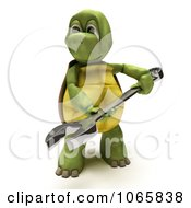 Clipart 3d Tortoise Holding A Wrench Royalty Free CGI Illustration