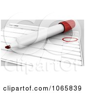 Clipart 3d Pen Over An Independence Day Calendar Royalty Free CGI Illustration