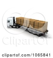 Clipart 3d Boxes On A Lorry Royalty Free CGI Illustration