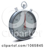 Clipart 3d Silver Stopwatch Royalty Free CGI Illustration by KJ Pargeter