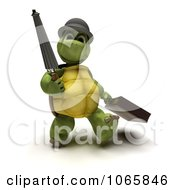 Clipart 3d Tortoise Walking With A Briefcase And Umbrella Royalty Free CGI Illustration